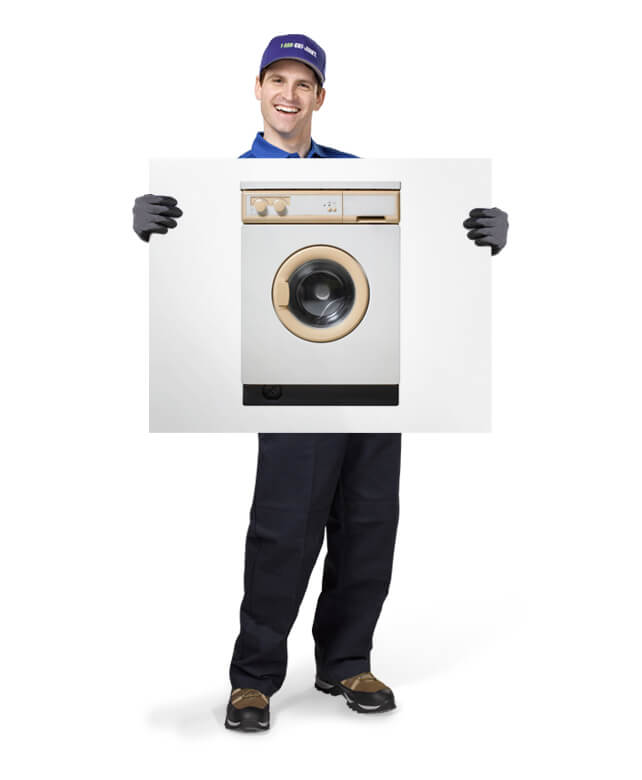 1800-GOT-JUNK TOM ready to remove your old or broken appliances