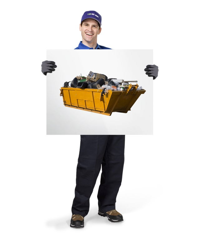 Uniformed TOM ready to haul away your old rubbish